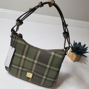 NWT Dooney & Bourke | Sm Kiley Hobo in Olive Plaid